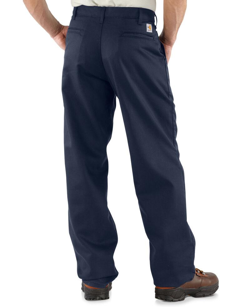 Carhartt Flame Resistant Twill Work Pants, Navy, hi-res