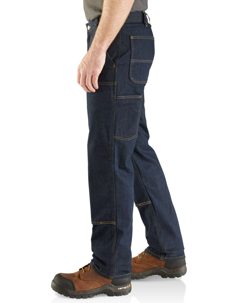Carhartt Men's Rugged Flex Relaxed Double Front Work Jeans , Indigo, hi-res