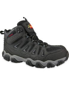 Thorogood Men's Waterproof Hiker Work Boot - Composite Toe, Black, hi-res