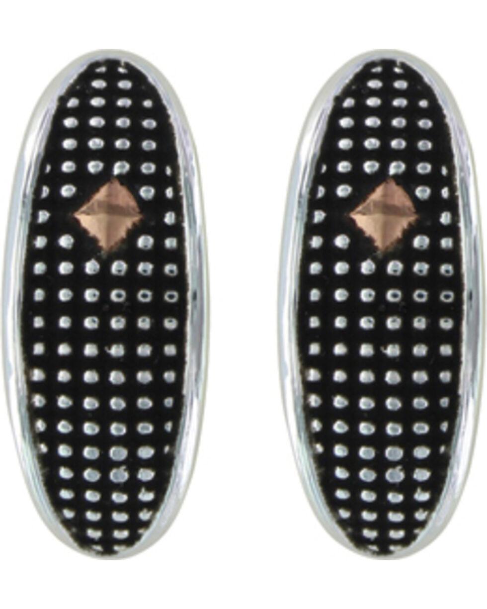 Montana Silversmiths Crosscut Copper Diamond Marquise Half Hoop Earrings , Multi, hi-res