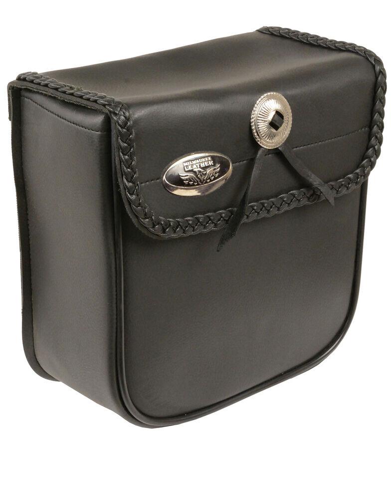 Milwaukee Leather Small PVC Braided Sissy Bar Bag, Black, hi-res