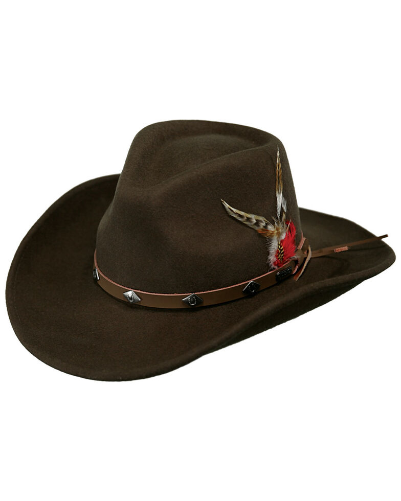 Outback Trading Men's Wide Open Spaces Wool Hat, Serpent, hi-res