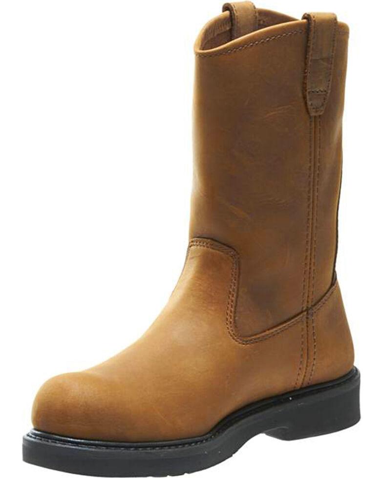 8f80ca5cda0 Wolverine Men's Ingham DuraShocks Steel Toe Wellington Boots