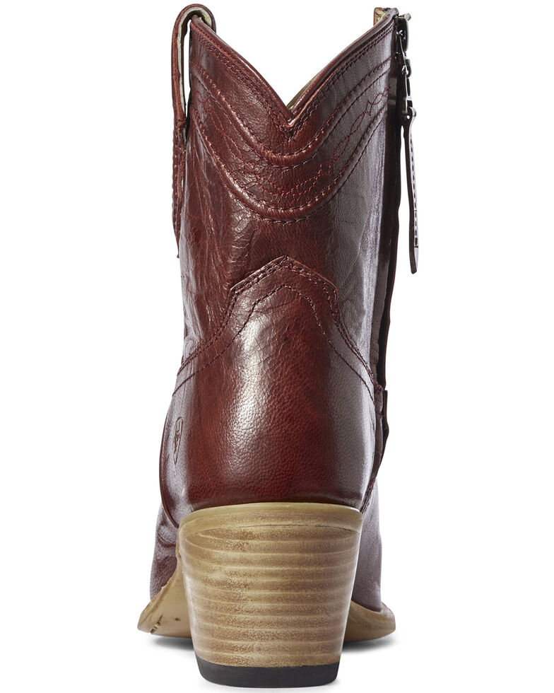 Ariat Women's Legacy Sangria Fashion Booties - Snip Toe, Red, hi-res