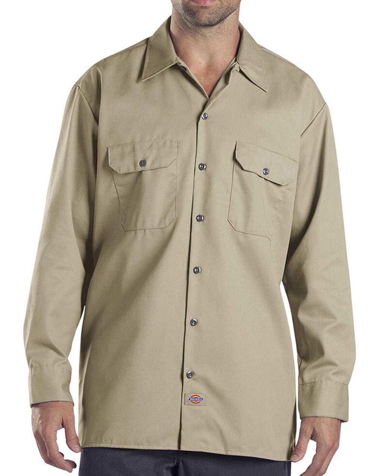 Dickies Twill Work Shirt - Big & Tall, Khaki, hi-res