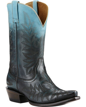 Ariat Women's Ombre X Toe Western Boots, Blue, hi-res