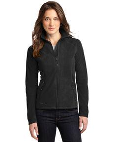 Eddie Bauer Women's Black 2X Micro-Fleece Full-Zip Jacket - Plus, Black, hi-res