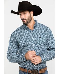 Cinch Men's Multi Purple Geo Print Long Sleeve Western Shirt , Purple, hi-res