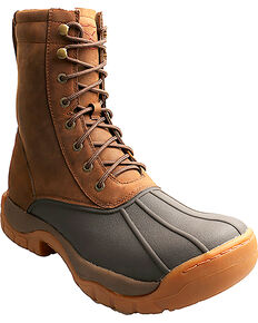 Twisted X Men's Lace-Up Guide Rubber Boots, Brown, hi-res