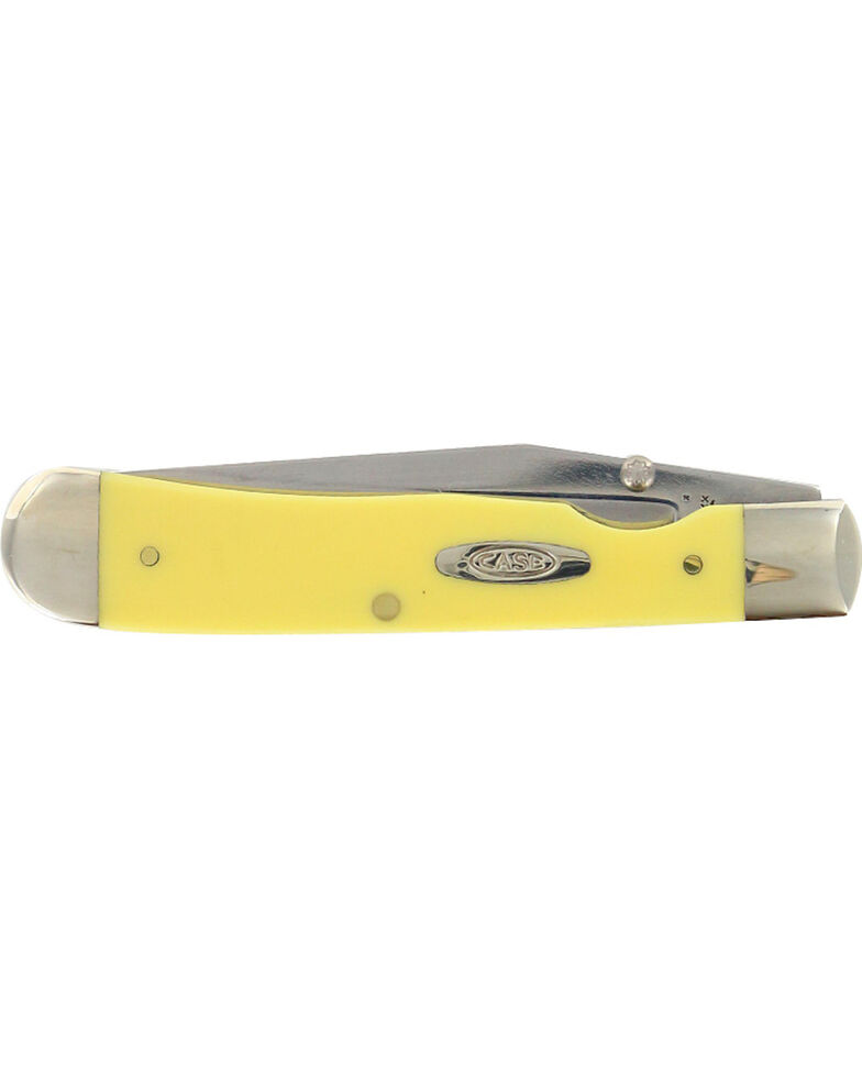 W.R. Case & Sons Yellow Delrin TrapperLock Pocket Knife, Multi, hi-res