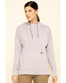 Carhartt Women's Gull Grey Newberry Hoodie, Grey, hi-res