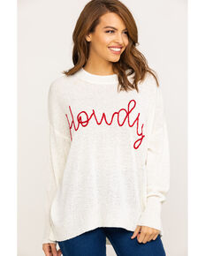 Show Me Your Mumu Women's Woodsy Howdy Sweater , White, hi-res