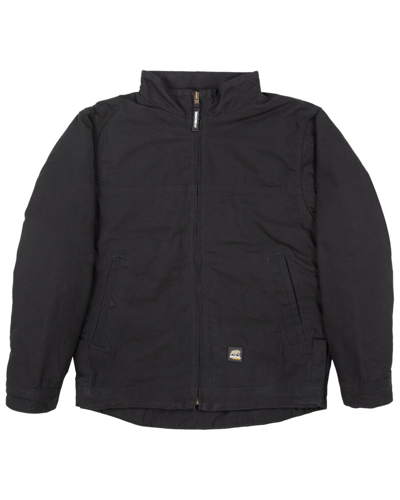 Berne Men's Black Flagstone Duck Flannel Work Jacket - Big , Black, hi-res