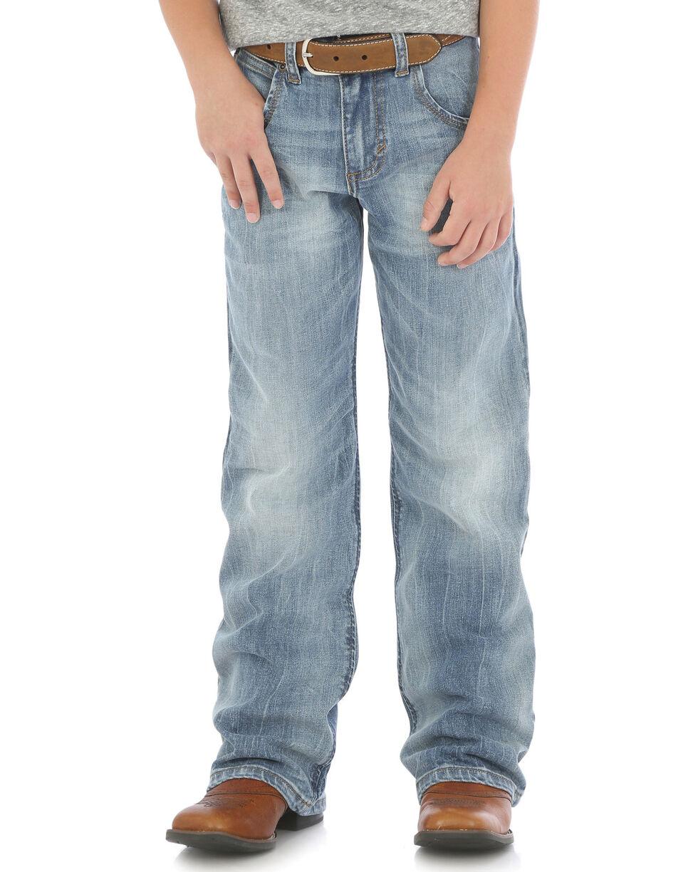 Wrangler Boys' (8-16) Retro Relaxed Fit Boot Cut Jeans - Husky , Indigo, hi-res
