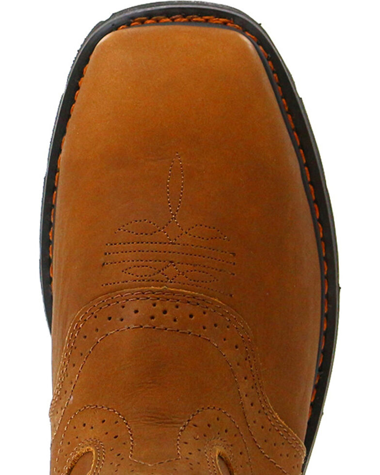 Cody James® Men's Broad Square Composite Toe Western Work Boots, Brown, hi-res