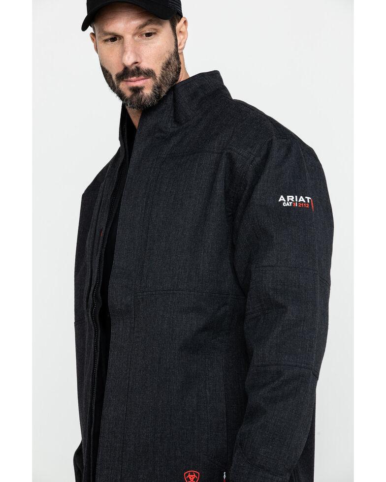Ariat Men's FR H20 Waterproof Work Parka , Black, hi-res