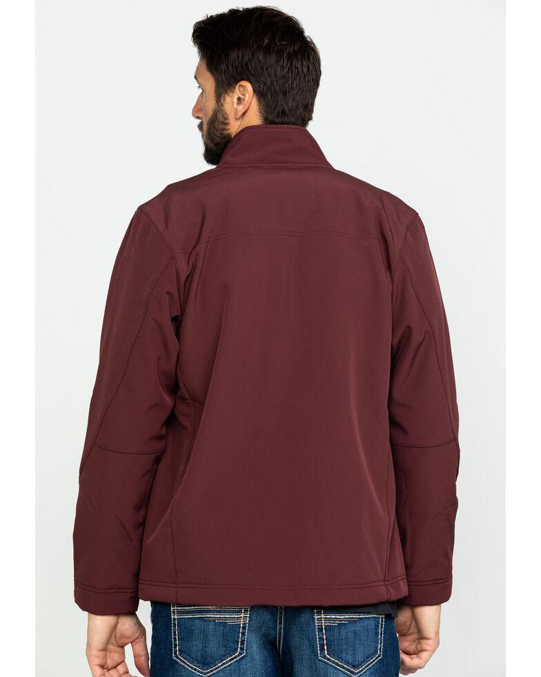 Wrangler Men's Burgundy Trail Fleece Lined Zip Front Jacket , Burgundy, hi-res