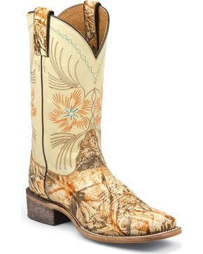 Nocona Women's Ranch Hand Western Boots, Cream, hi-res