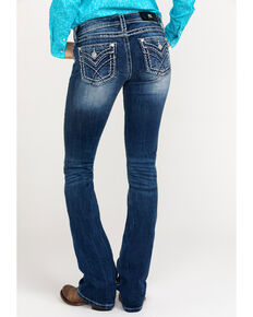 Miss Me Women's Sign Stitch Bootcut Jeans , Blue, hi-res