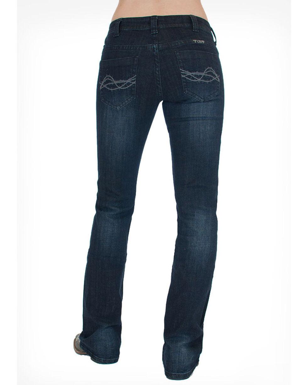 Cowgirl Tuff Women's Forever Tuff Jeans, Dark Blue, hi-res