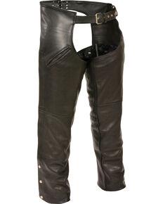 Milwaukee Leather Men's Slash Pocket Thermal Liner Chaps - 4X, Black, hi-res