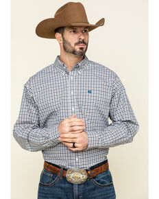 Cinch Men's Multi Small Plaid Button Long Sleeve Western Shirt , Multi, hi-res
