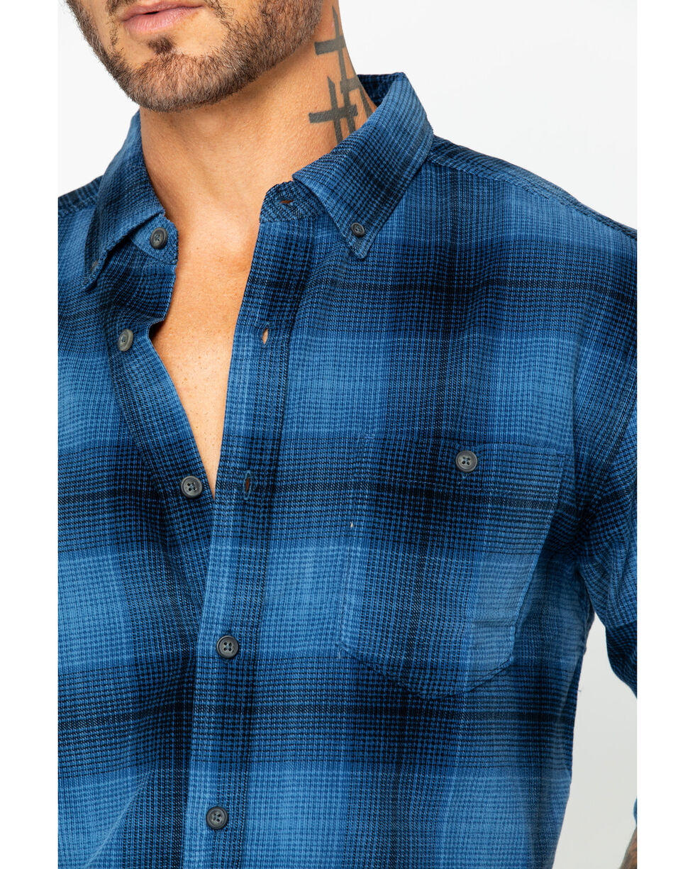 North River Men's Large Plaid Corduroy Shirt, Indigo, hi-res