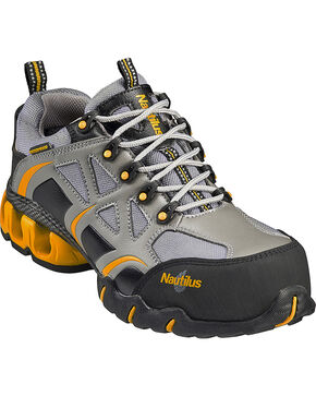 Nautilus Men's Composite Toe EH Waterproof Athletic Work Shoes, Grey, hi-res