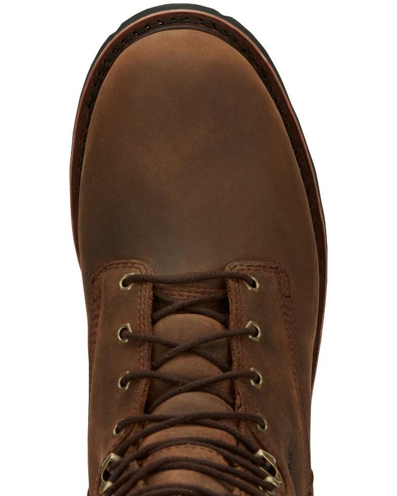 Chippewa Men's Waterproof Work Boots - Soft Toe, Brown, hi-res