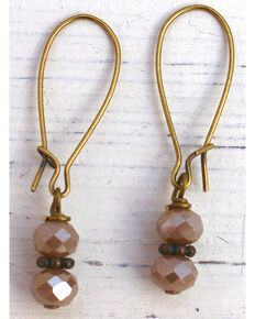 InspireDesigns Women's Taupe Heavenly Lights Crystal Droplet Earrings, Taupe, hi-res