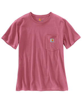Carhartt Women's Workwear Pocket T-Shirt, Dark Red, hi-res