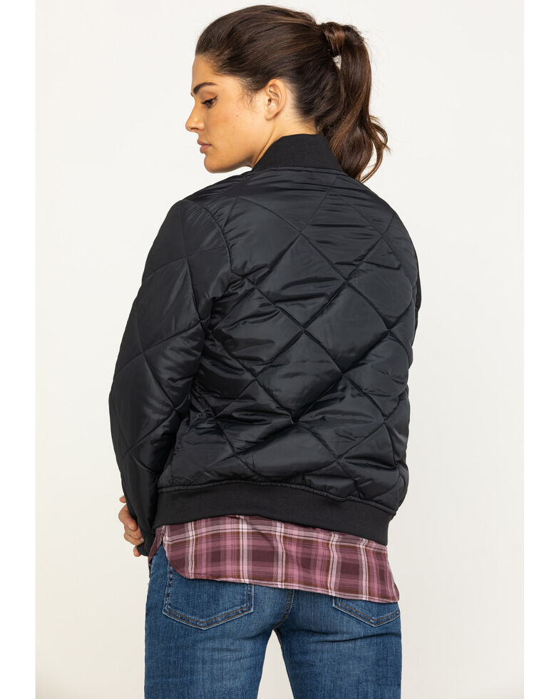 Dickies Women's Quilted Bomber Jacket, Black, hi-res