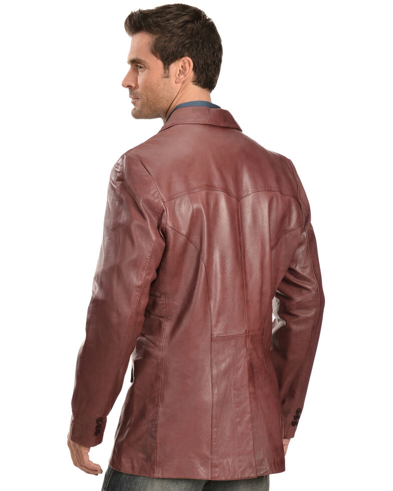 Scully Black Cherry Lamb Leather Blazer - Big, Black Cherry, hi-res