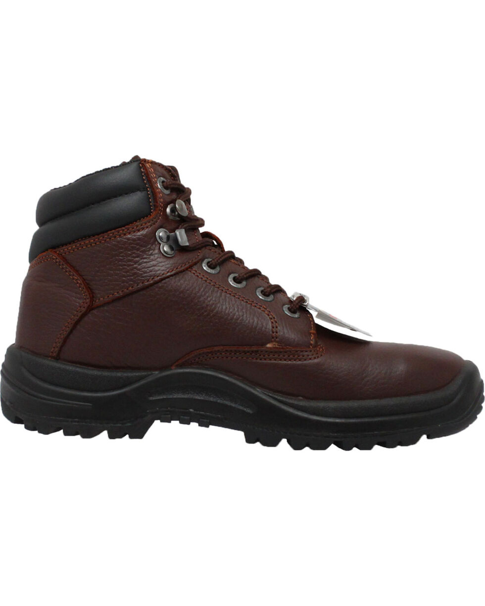 "Ad Tec Men's 6"" Brown Tumbled Leather TPU Work Boots - Steel Toe, Brown, hi-res"