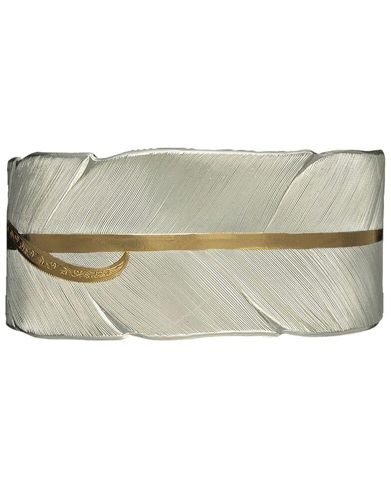 Montana Silversmiths Women's Feather Cuff Bracelet, Silver, hi-res