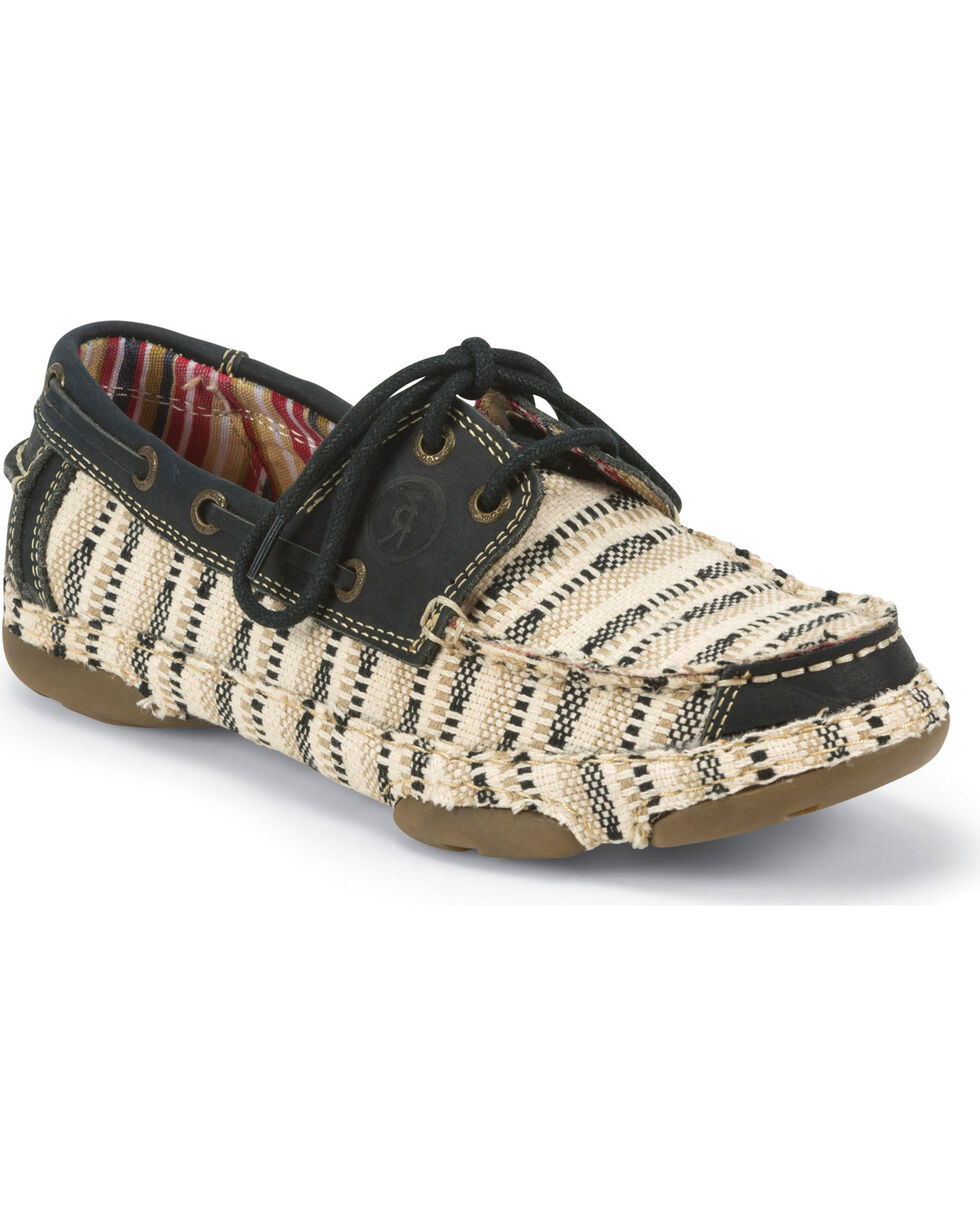 Tony Lama Women's Canvas 3R Casual Lace-Up Shoes, Tan, hi-res