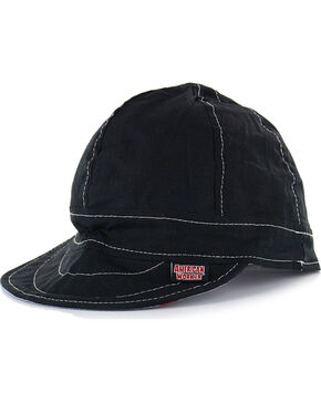 American Worker Men's Black Welding Cap, Black, hi-res