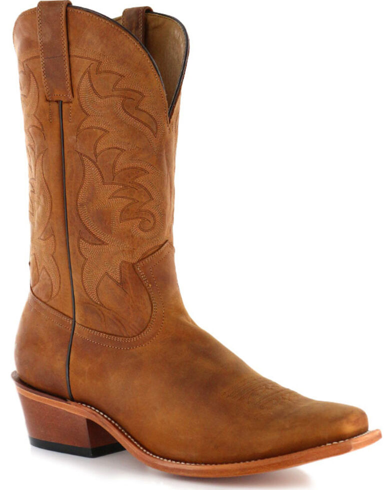 Moonshine Spirit Men's Crazy Horse Vintage Western Boots, Brown, hi-res