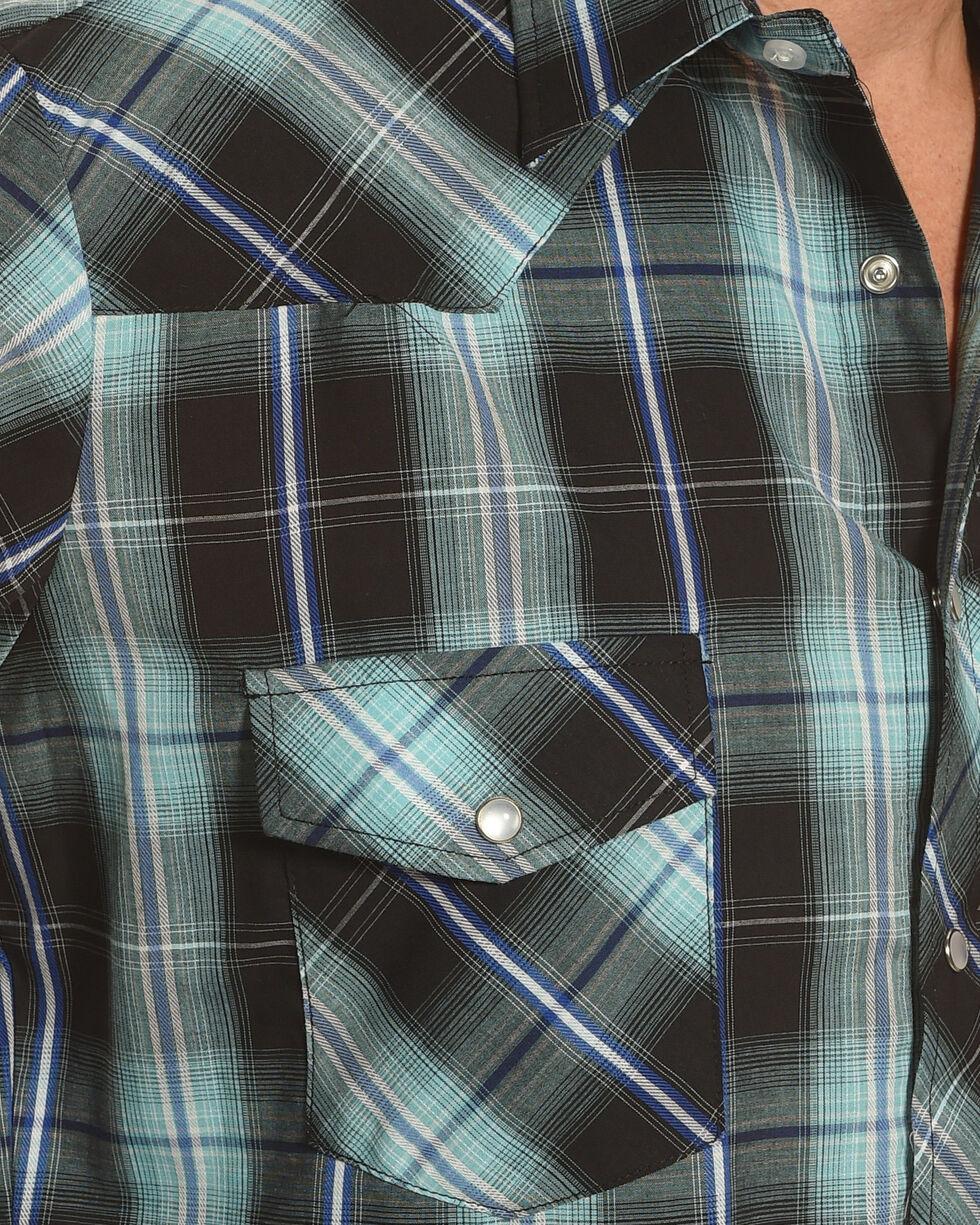 Roper Men's Black Large Plaid Western Shirt , Black, hi-res
