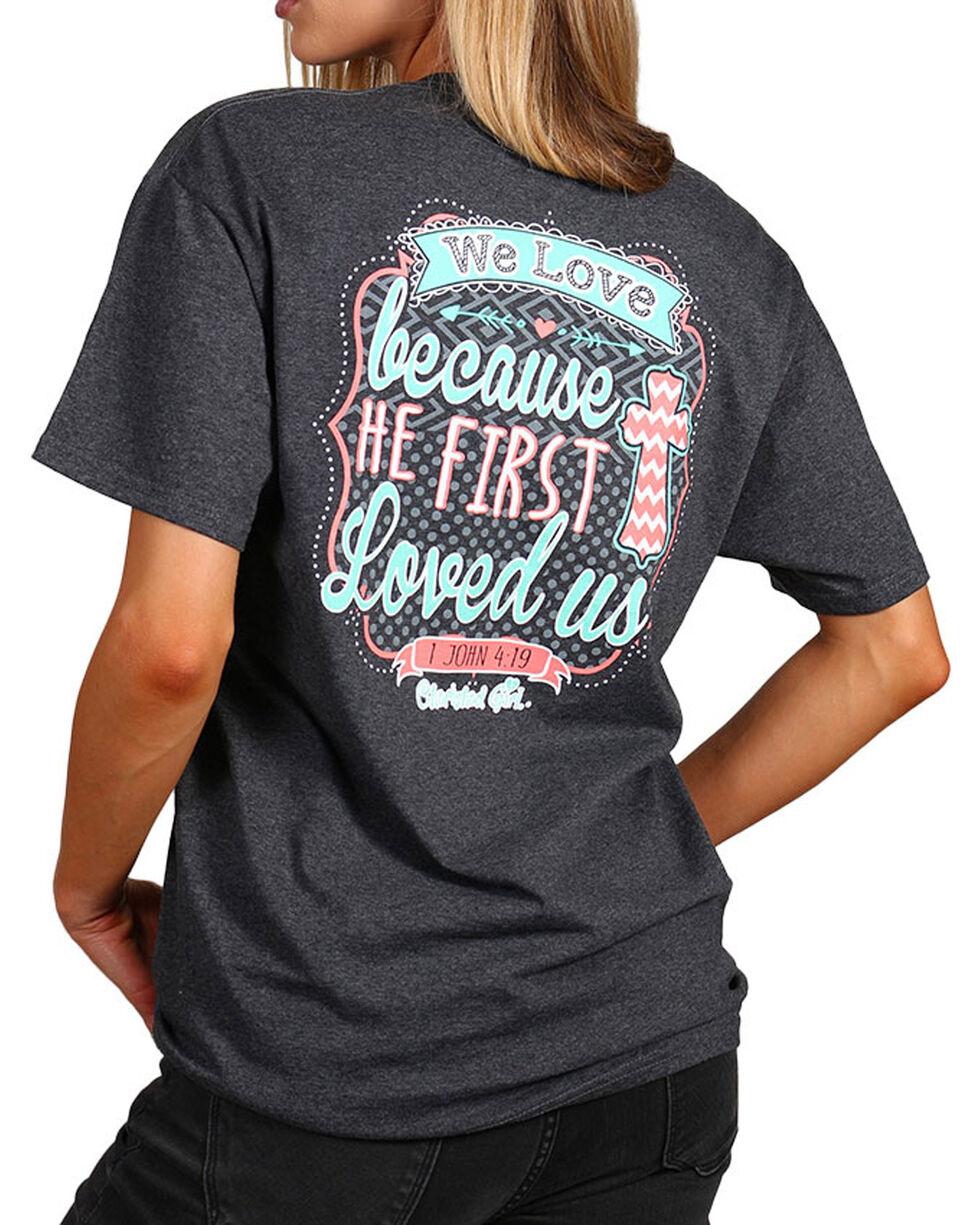 "Cherished Girl Women's ""We Love"" Graphic Tee, Grey, hi-res"