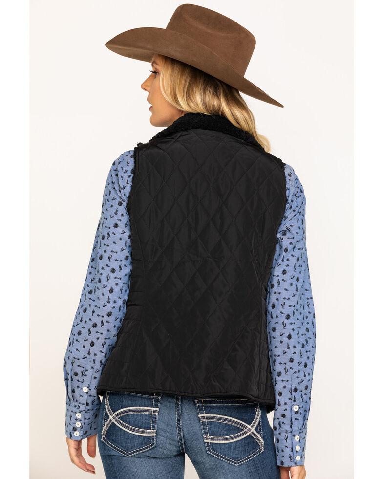 Ariat Women's Black Reversible Hallstatt Vest , Black, hi-res
