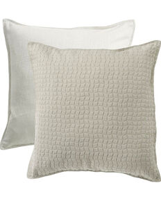 HiEnd Accents Grey Wilshire Reversible Textured Fabric Euro Sham , Light Grey, hi-res