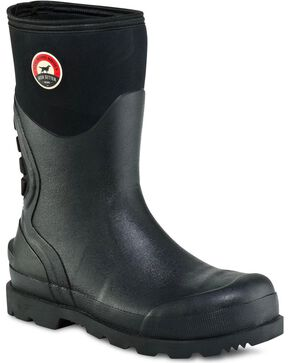 Red Wing Irish Setter Stillwater Waterproof Pull-On Boots - Steel Toe, Black, hi-res