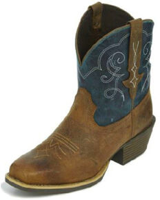 Justin Gypsy Women's Chellie Rustic Western Boots - Square Toe, Brown, hi-res