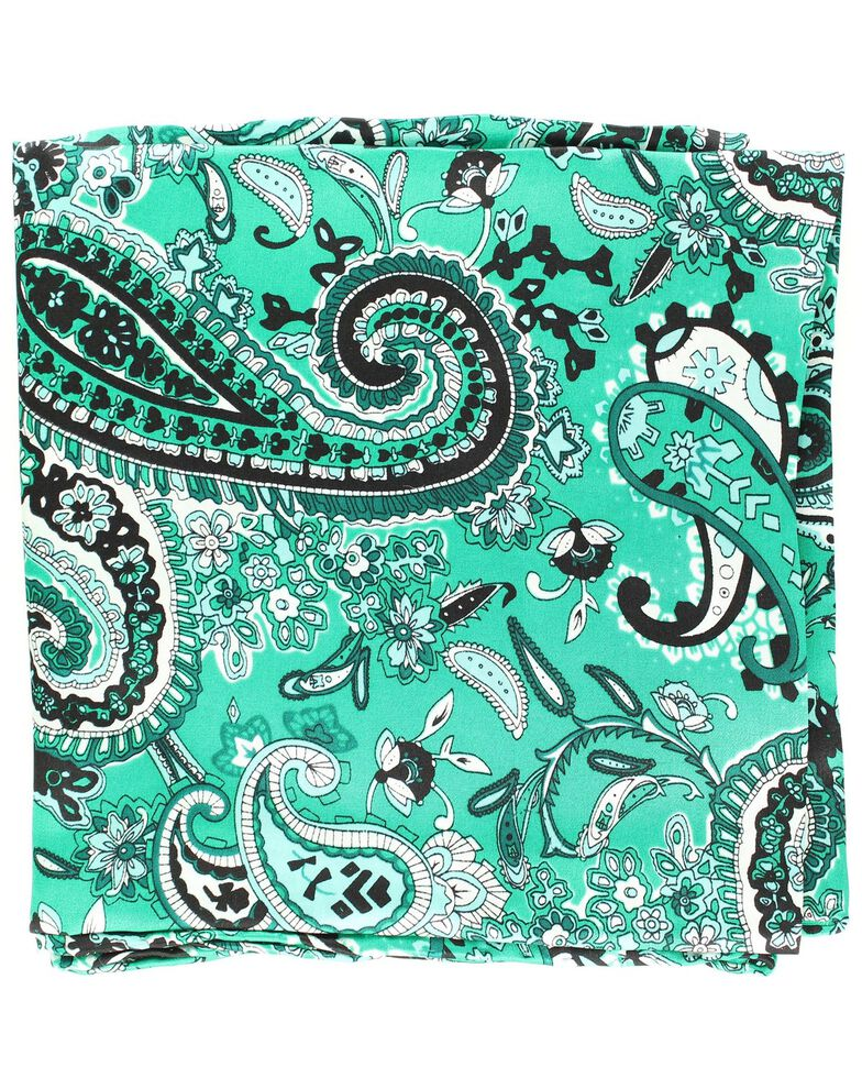 Paisley Silk Wild Rag, Green, hi-res