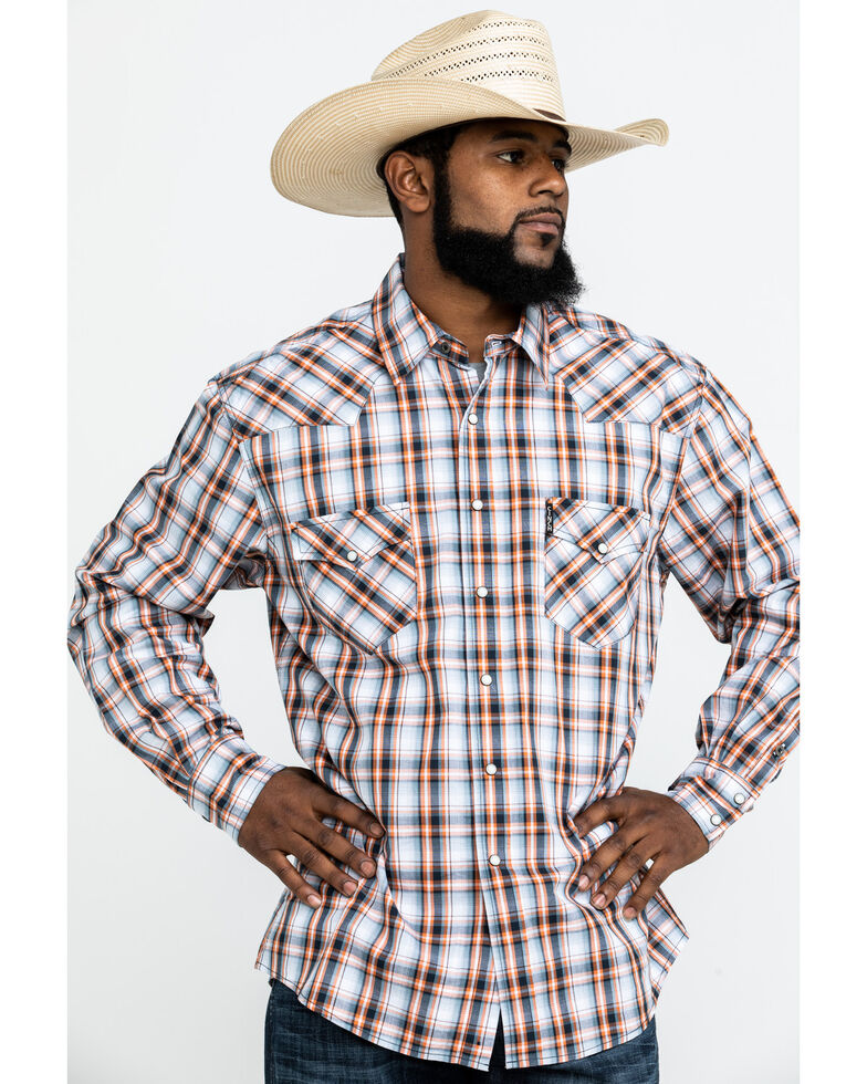 Cinch Men's Modern Multi Plaid Long Sleeve Western Shirt , Multi, hi-res