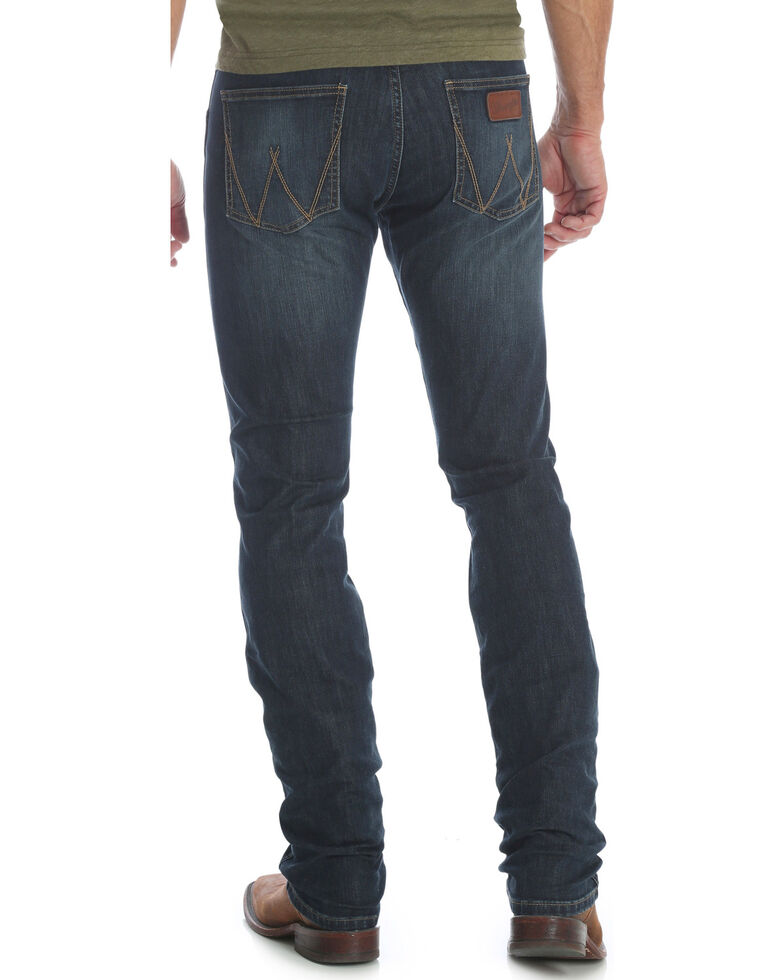0ea0ab32 Zoomed Image Wrangler Retro Men's Blue Stretch Denim Jeans - Skinny , Blue,  hi-res