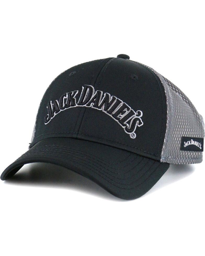 Jack Daniel's Men's Logo Metallic Meshback Cap, Black, hi-res