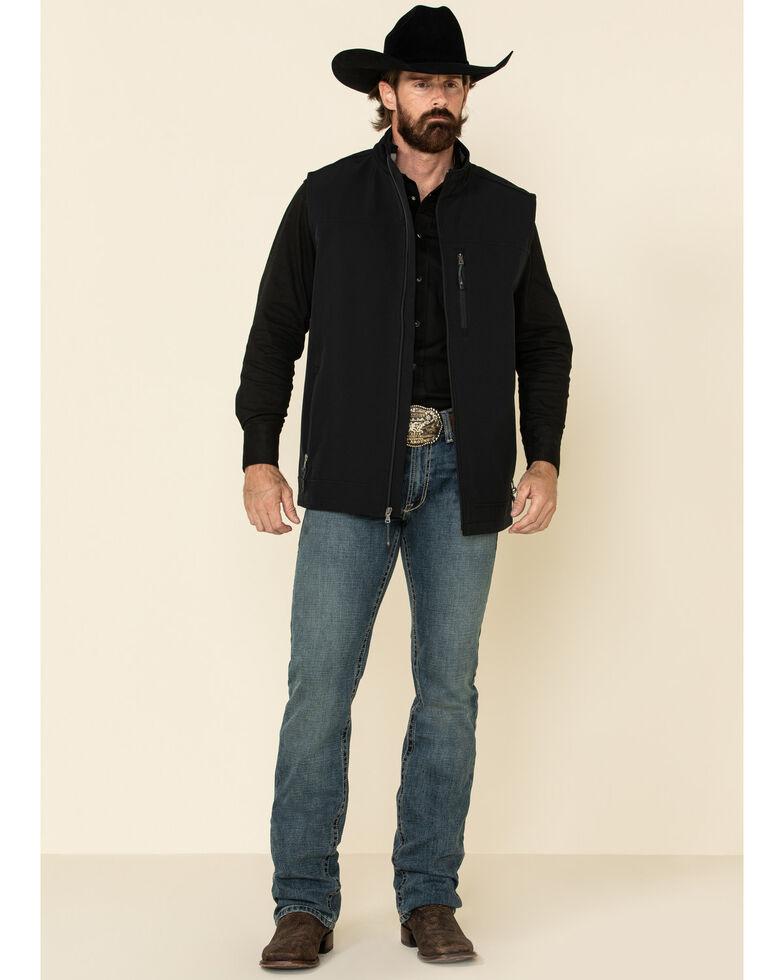Cody James Core Men's Black Wrightwood Zip Front Vest - Tall , Black, hi-res