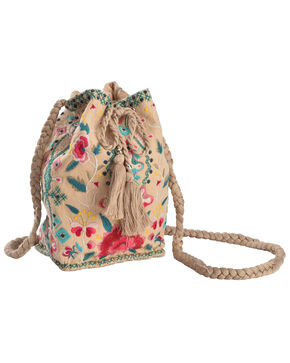 Johnny Was Women's Peta Bucket Bag , Beige/khaki, hi-res
